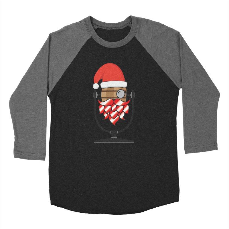 Christmas Hoppy Men's Baseball Triblend Longsleeve T-Shirt by Barrel Chat Podcast Merch Shop