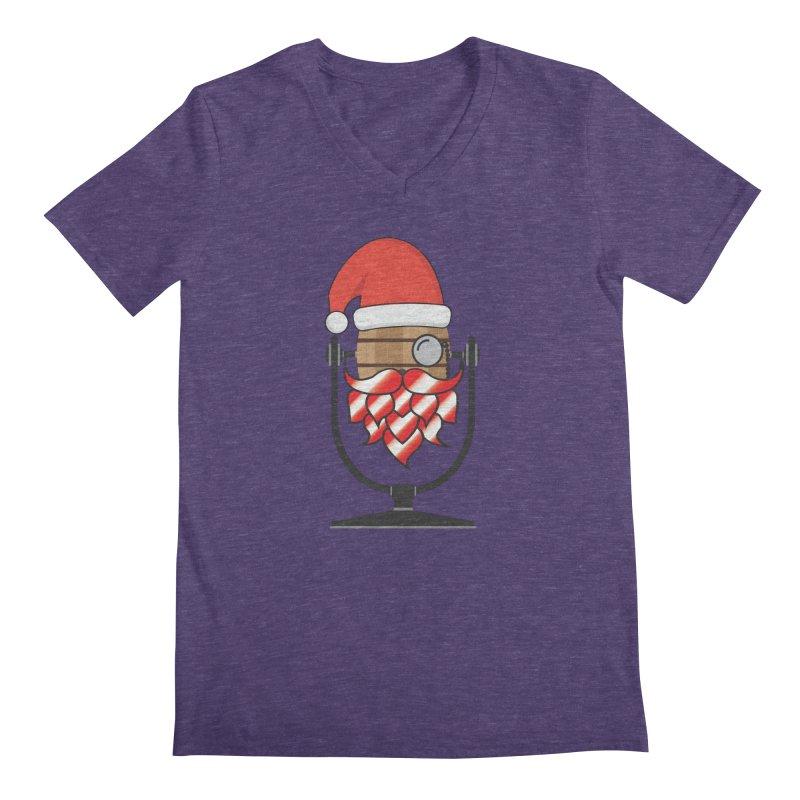 Christmas Hoppy Men's Regular V-Neck by Barrel Chat Podcast Merch Shop