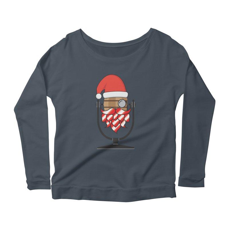 Christmas Hoppy Women's Scoop Neck Longsleeve T-Shirt by Barrel Chat Podcast Merch Shop