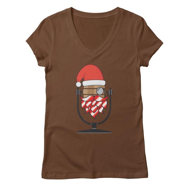 Christmas Hoppy Women's Regular V-Neck by Barrel Chat Podcast Merch Shop