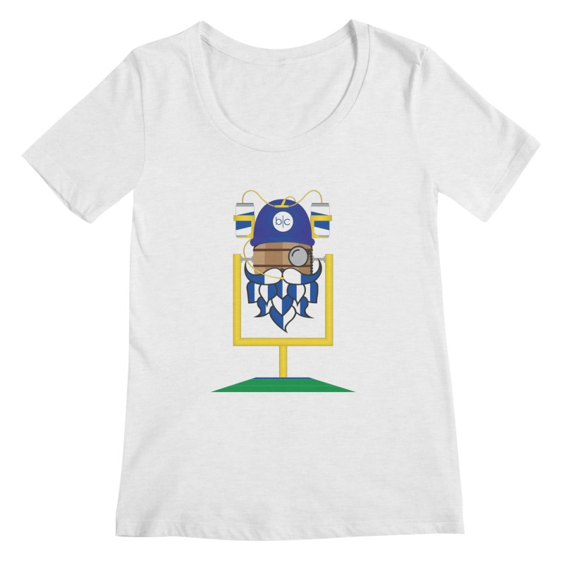 Tailgate Hoppy Women's Regular Scoop Neck by Barrel Chat Podcast Merch Shop
