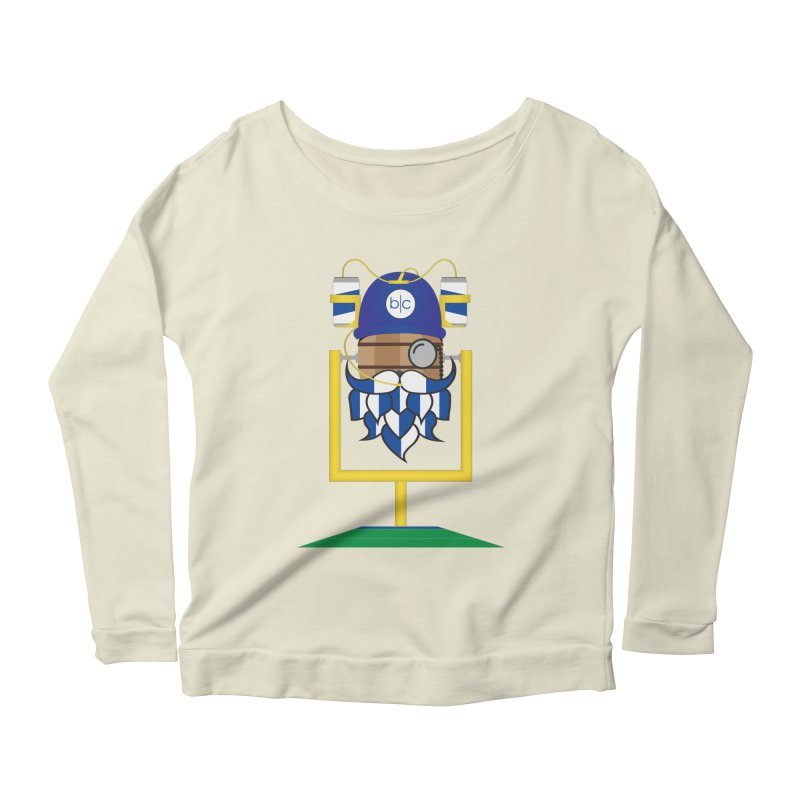 Tailgate Hoppy Women's Scoop Neck Longsleeve T-Shirt by Barrel Chat Podcast Merch Shop