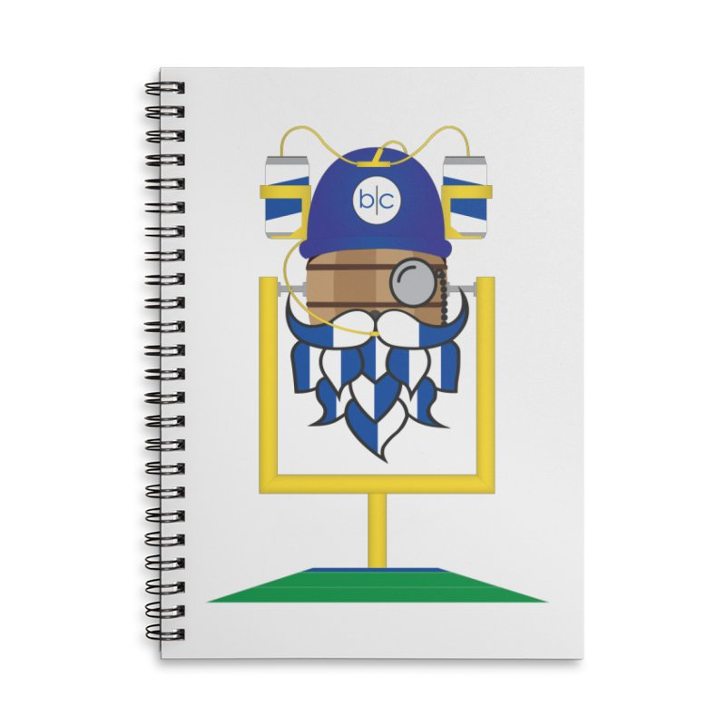 Tailgate Hoppy Accessories Lined Spiral Notebook by Barrel Chat Podcast Merch Shop
