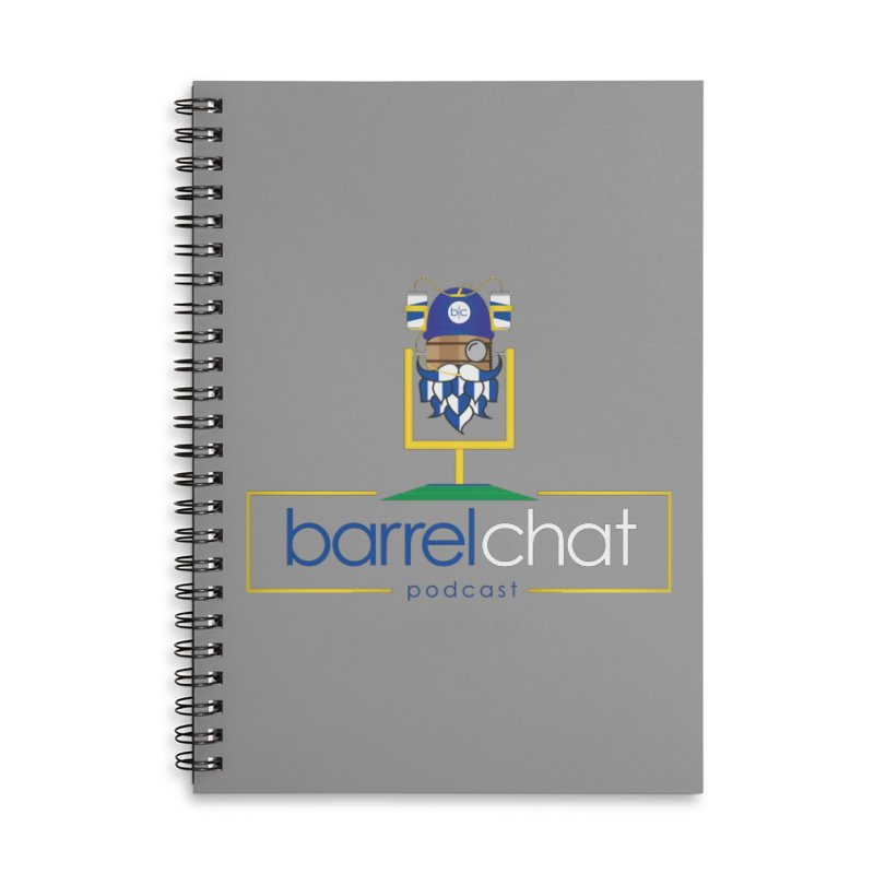 Barrel chat Podcast - Tailgate Accessories Lined Spiral Notebook by Barrel Chat Podcast Merch Shop