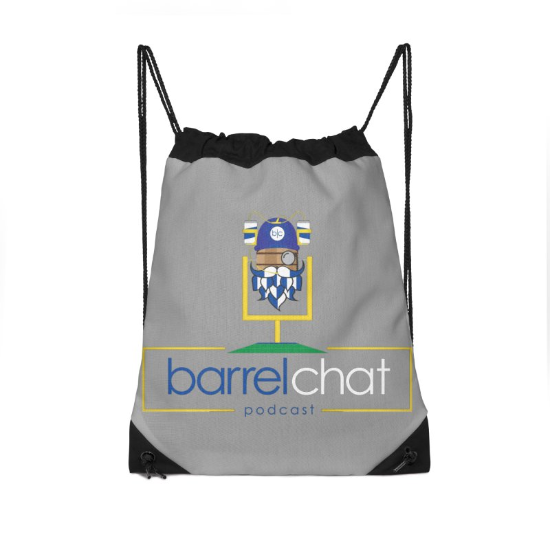 Barrel chat Podcast - Tailgate Accessories Drawstring Bag Bag by Barrel Chat Podcast Merch Shop