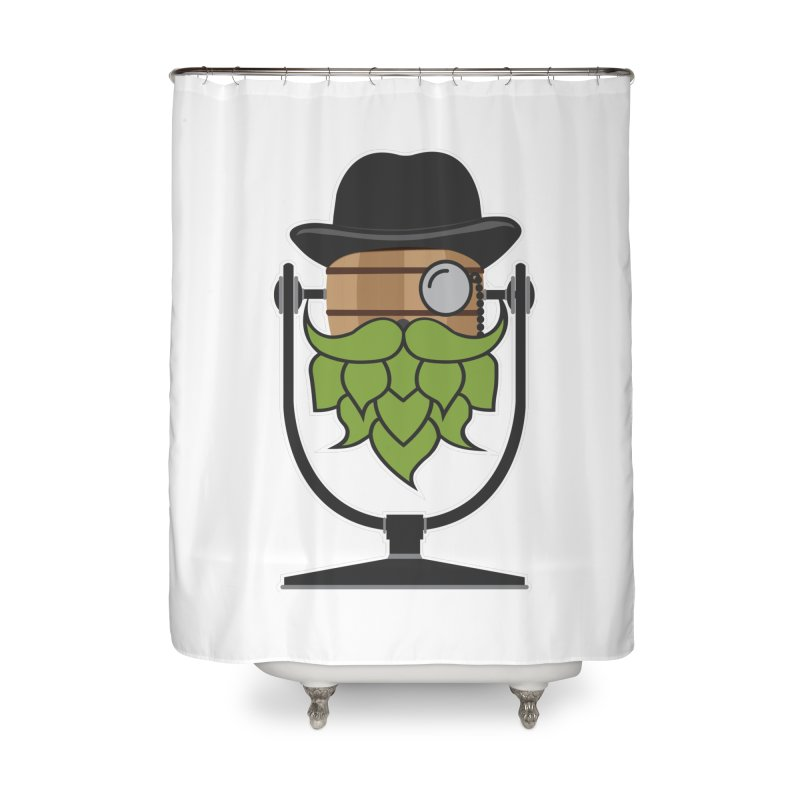 Hoppy (Dark Shirts) Home Shower Curtain by Barrel Chat Podcast Merch Shop
