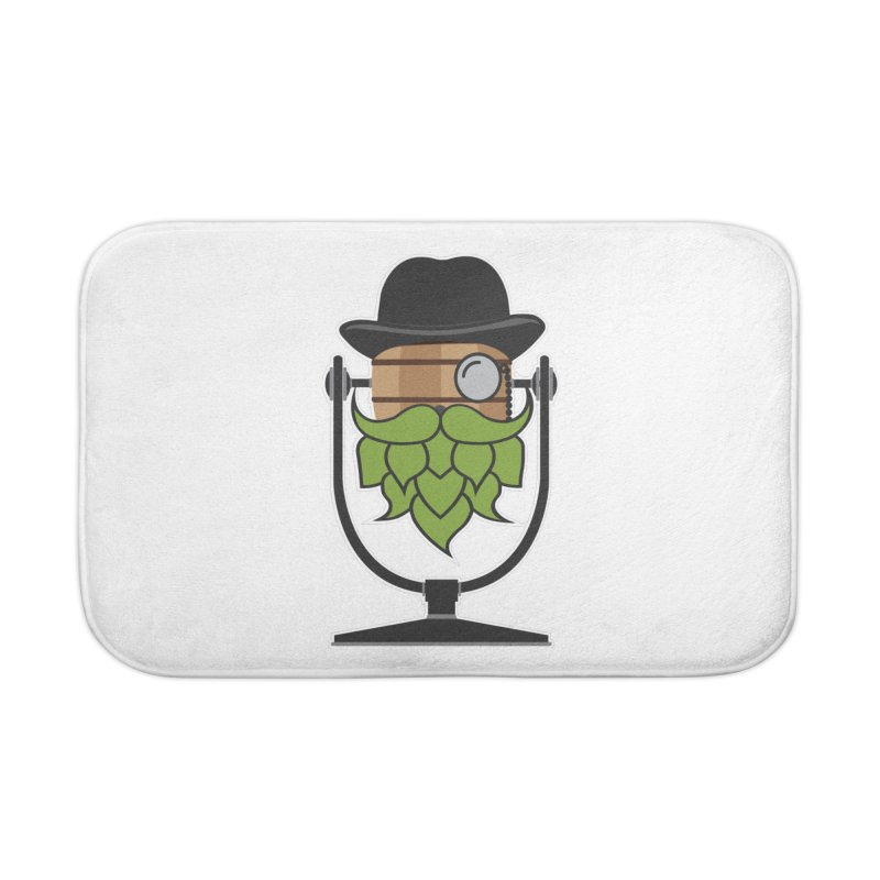 Hoppy (Dark Shirts) Home Bath Mat by Barrel Chat Podcast Merch Shop