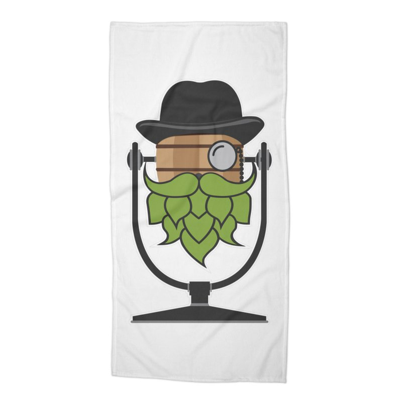 Hoppy (Dark Shirts) Accessories Beach Towel by Barrel Chat Podcast Merch Shop