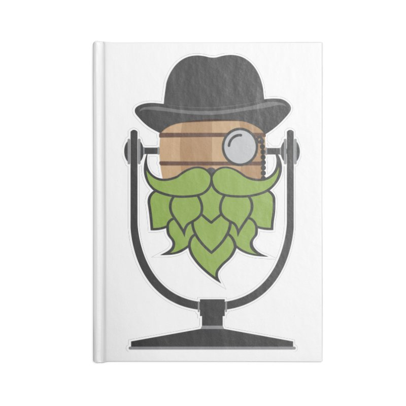Hoppy (Dark Shirts) Accessories Blank Journal Notebook by Barrel Chat Podcast Merch Shop