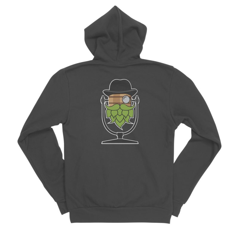 Hoppy (Dark Shirts) Women's Sponge Fleece Zip-Up Hoody by Barrel Chat Podcast Merch Shop