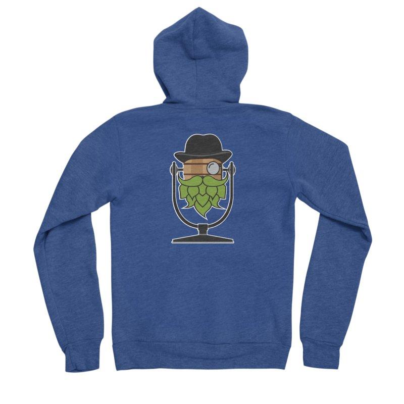 Hoppy (Dark Shirts) Men's Sponge Fleece Zip-Up Hoody by Barrel Chat Podcast Merch Shop