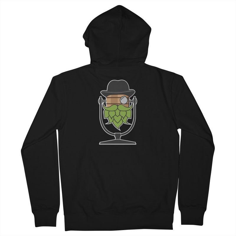 Hoppy (Dark Shirts) Men's French Terry Zip-Up Hoody by Barrel Chat Podcast Merch Shop