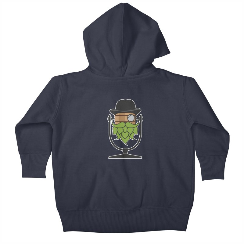Hoppy (Dark Shirts) Kids Baby Zip-Up Hoody by Barrel Chat Podcast Merch Shop