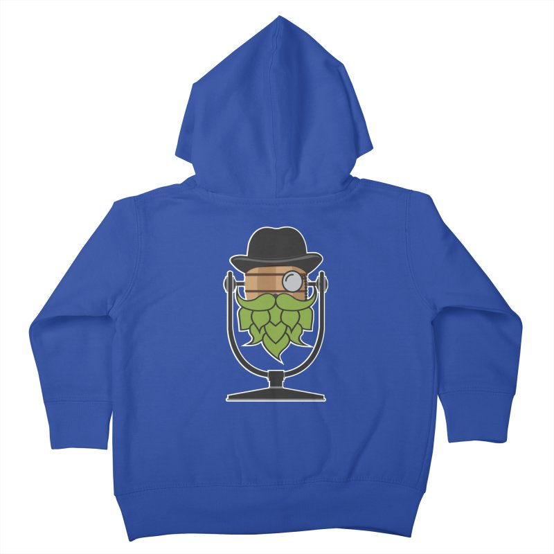 Hoppy (Dark Shirts) Kids Toddler Zip-Up Hoody by Barrel Chat Podcast Merch Shop