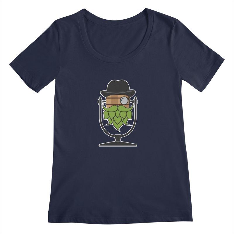 Hoppy (Dark Shirts) Women's Regular Scoop Neck by Barrel Chat Podcast Merch Shop