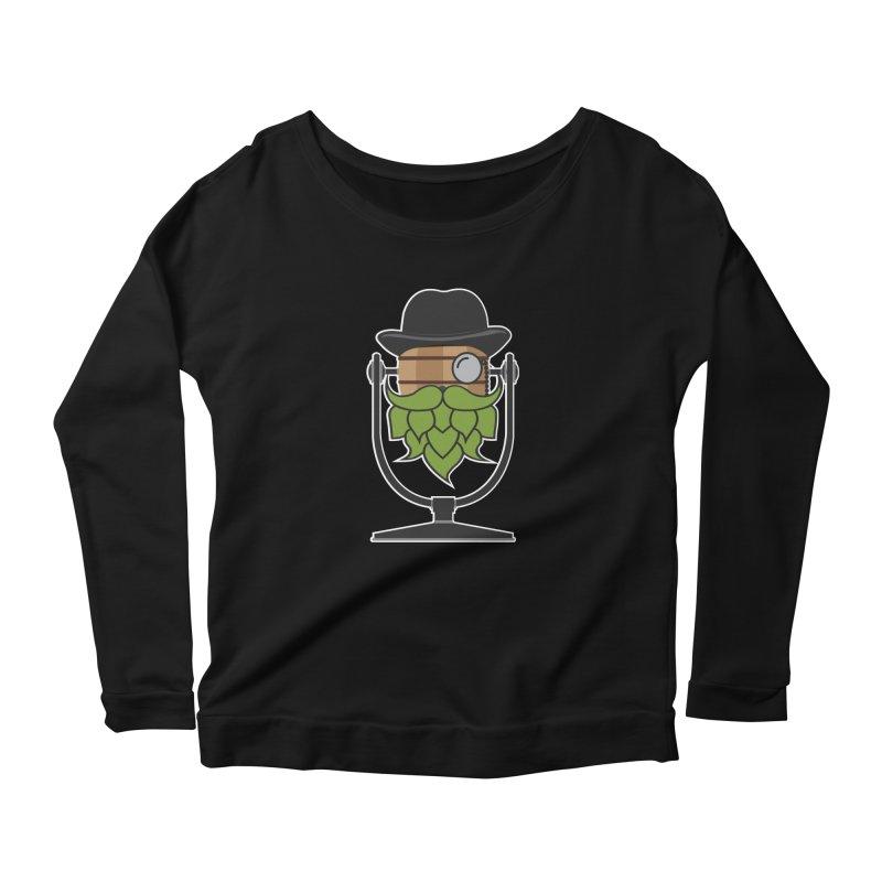 Hoppy (Dark Shirts) Women's Scoop Neck Longsleeve T-Shirt by Barrel Chat Podcast Merch Shop
