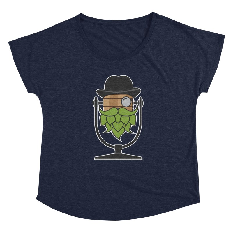 Hoppy (Dark Shirts) Women's Dolman Scoop Neck by Barrel Chat Podcast Merch Shop