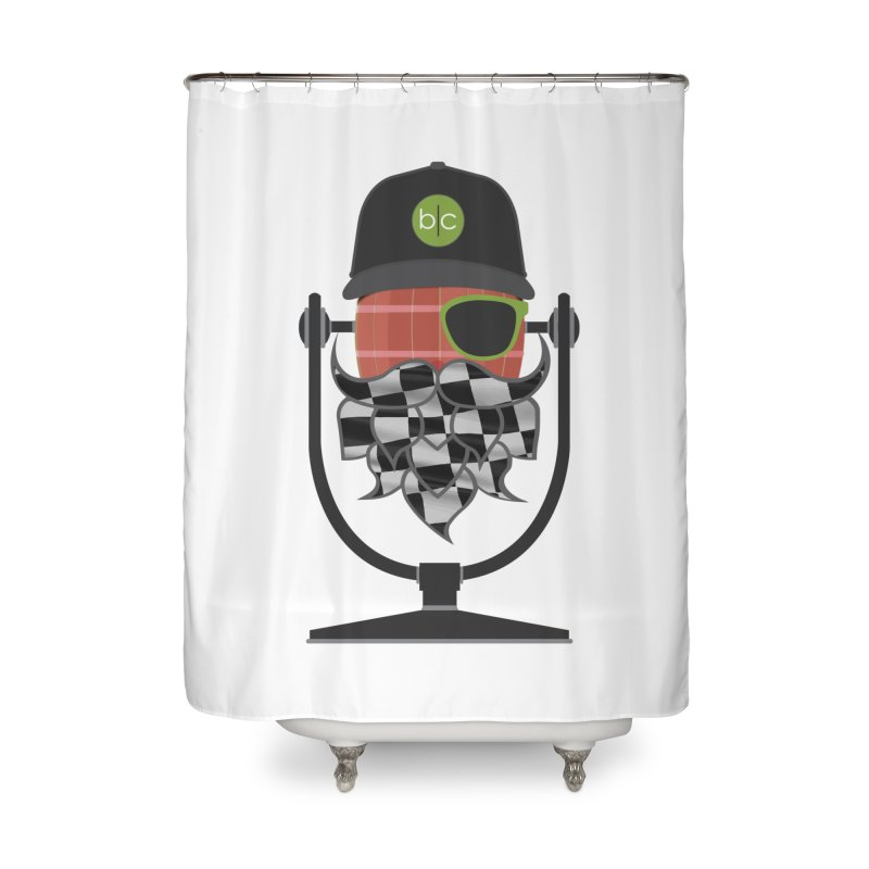 Race Day Hoppy Home Shower Curtain by Barrel Chat Podcast Merch Shop
