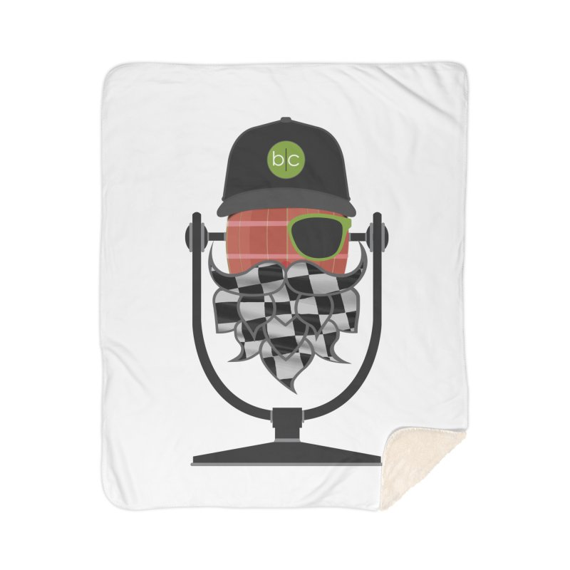 Race Day Hoppy Home Sherpa Blanket Blanket by Barrel Chat Podcast Merch Shop