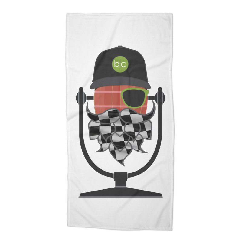 Race Day Hoppy Accessories Beach Towel by Barrel Chat Podcast Merch Shop