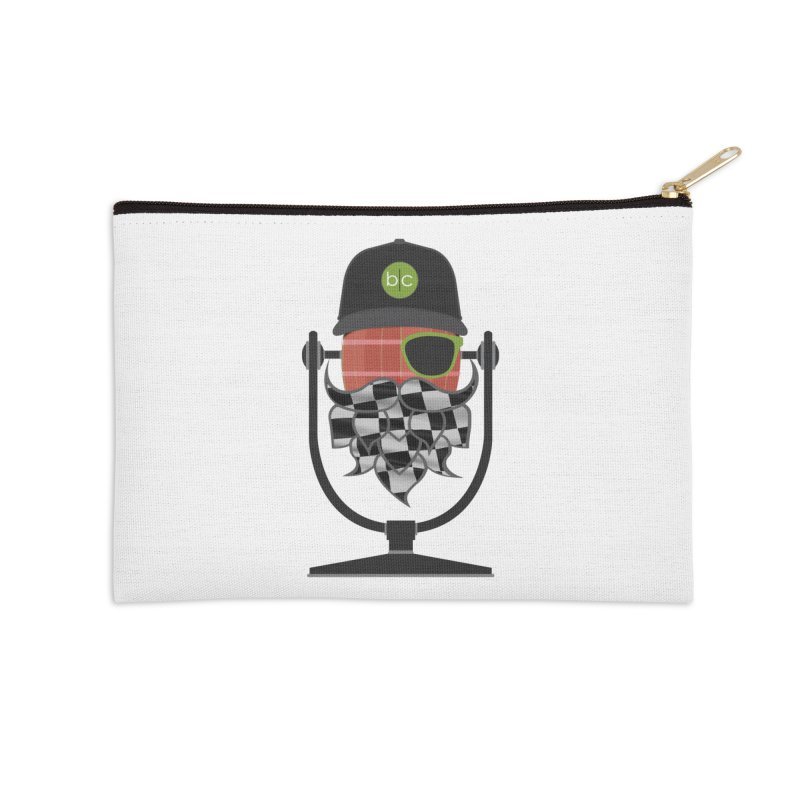 Race Day Hoppy Accessories Zip Pouch by Barrel Chat Podcast Merch Shop
