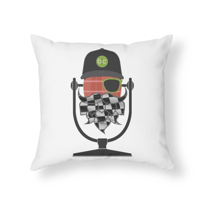 Race Day Hoppy Home Throw Pillow by Barrel Chat Podcast Merch Shop