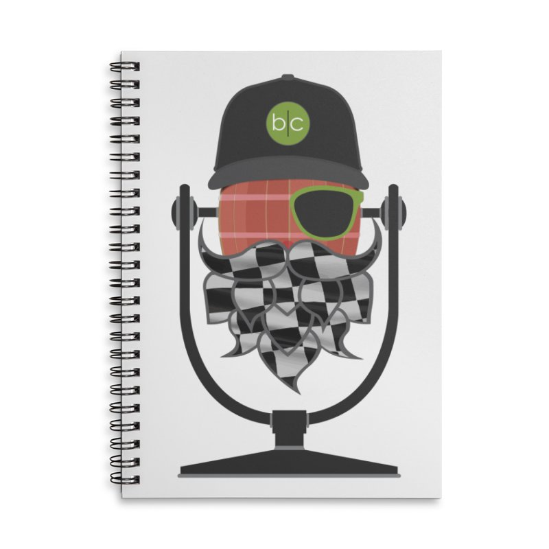 Race Day Hoppy Accessories Notebook by Barrel Chat Podcast Merch Shop