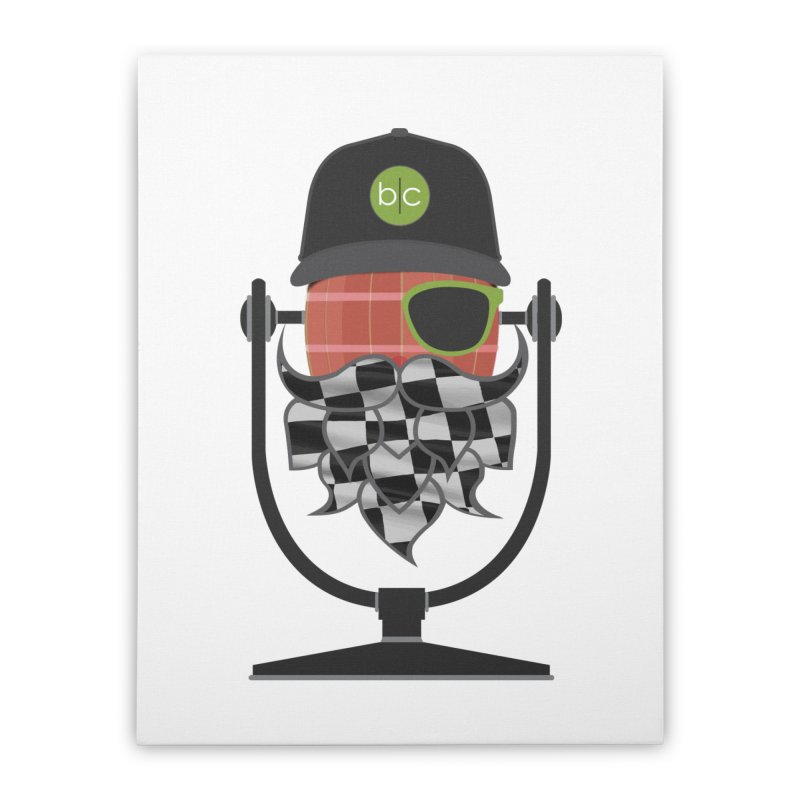 Race Day Hoppy Home Stretched Canvas by Barrel Chat Podcast Merch Shop