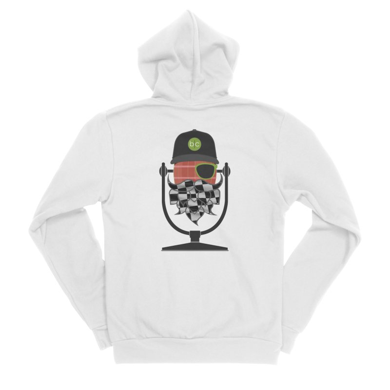 Race Day Hoppy Men's Sponge Fleece Zip-Up Hoody by Barrel Chat Podcast Merch Shop