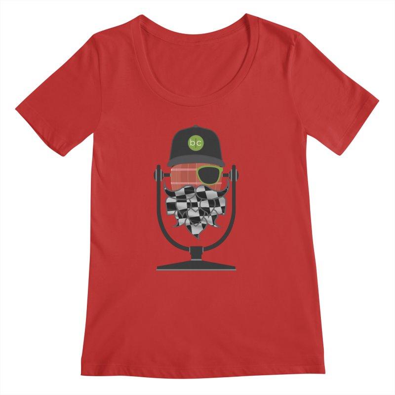 Race Day Hoppy Women's Regular Scoop Neck by Barrel Chat Podcast Merch Shop