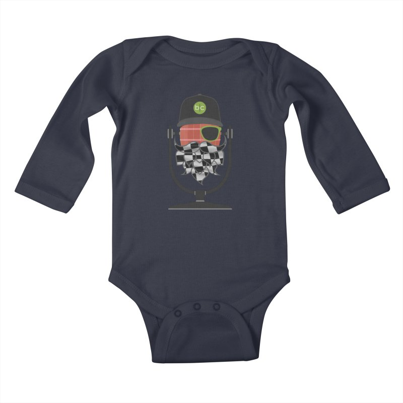 Race Day Hoppy Kids Baby Longsleeve Bodysuit by Barrel Chat Podcast Merch Shop