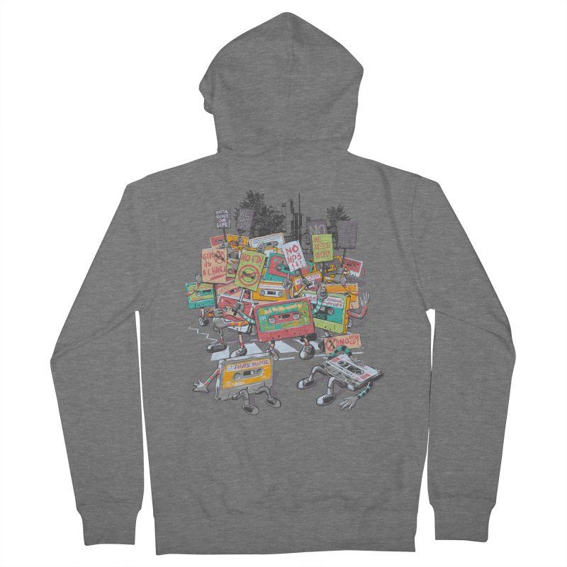 Analog Strike Men's French Terry Zip-Up Hoody by Artist Shop
