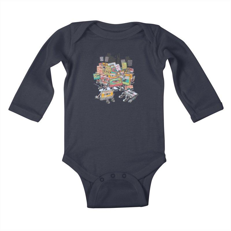 Analog Strike Kids Baby Longsleeve Bodysuit by Artist Shop