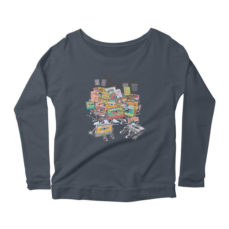 Analog Strike Women's Scoop Neck Longsleeve T-Shirt by Artist Shop
