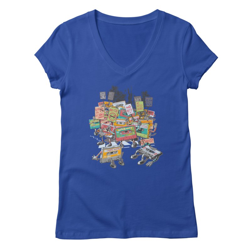 Analog Strike Women's Regular V-Neck by Artist Shop