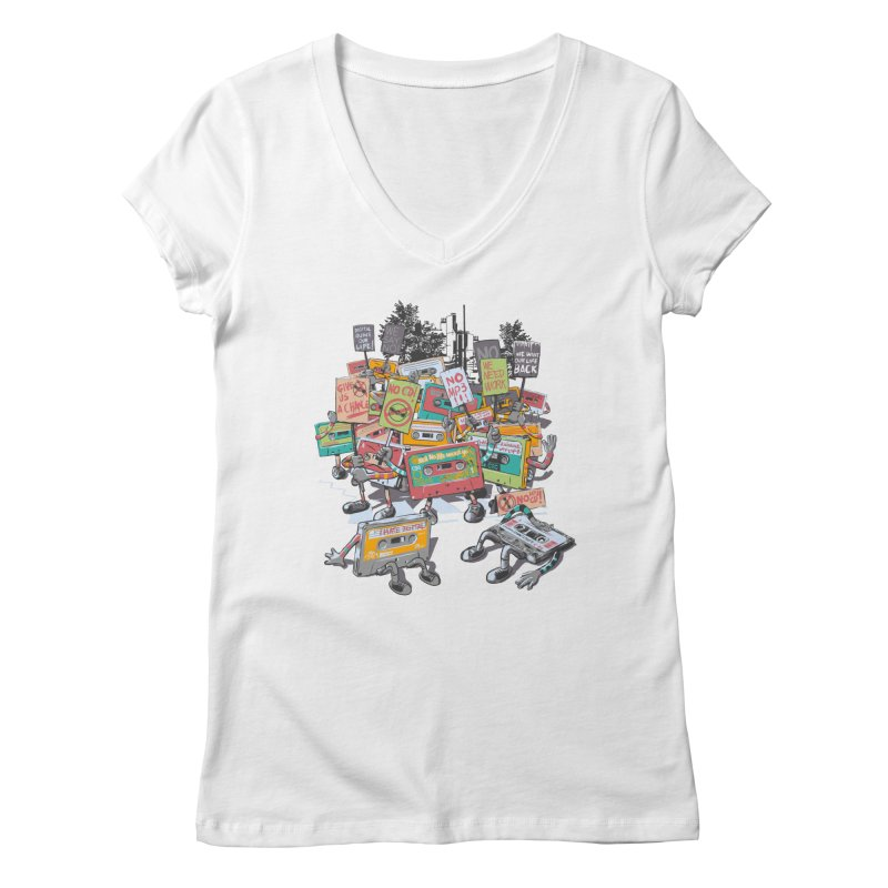 Analog Strike Women's V-Neck by Artist Shop