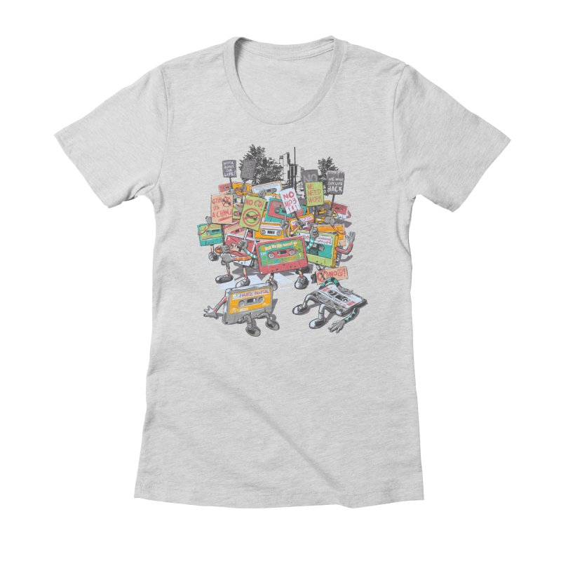 Analog Strike Women's Fitted T-Shirt by Artist Shop