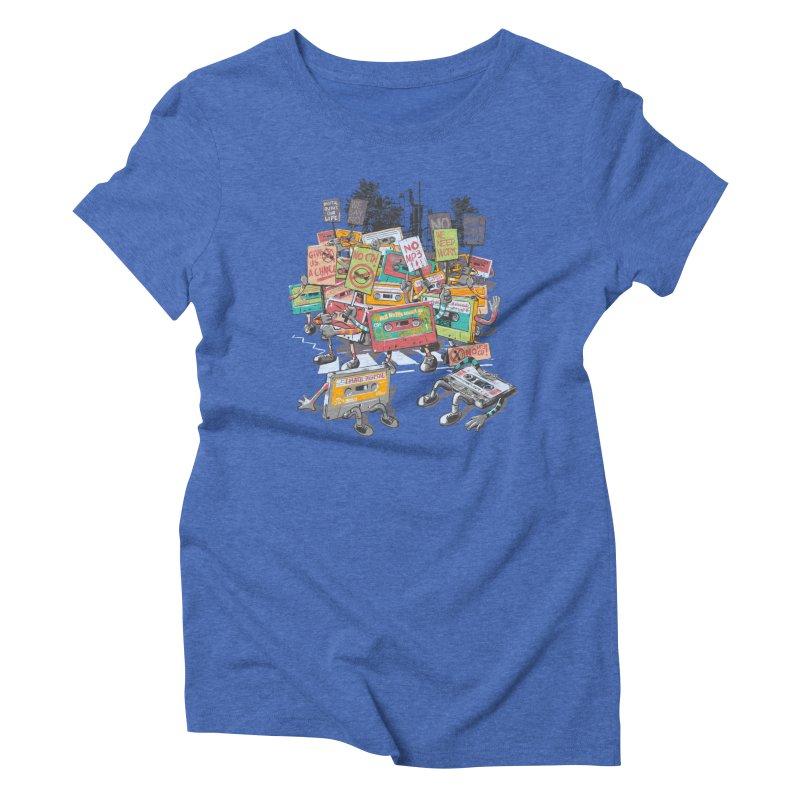 Analog Strike Women's Triblend T-shirt by Artist Shop