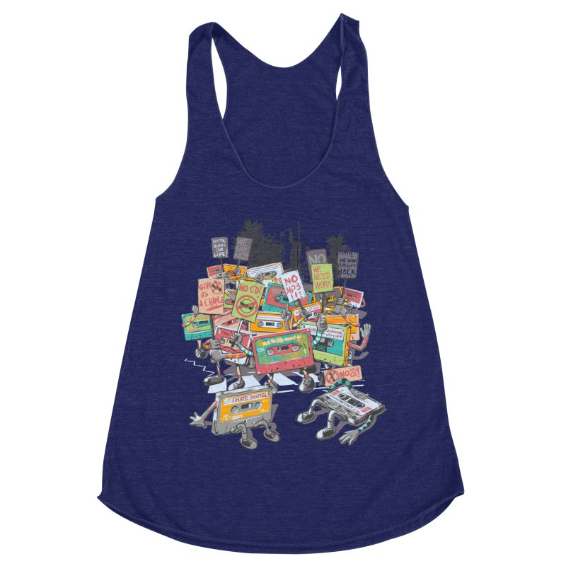 Analog Strike Women's Racerback Triblend Tank by Artist Shop