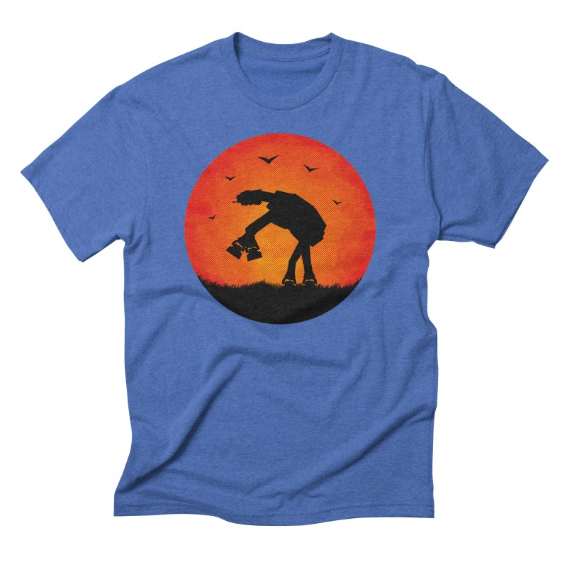 AT-AT sunset Men's Triblend T-shirt by Bavo's Artist Shop