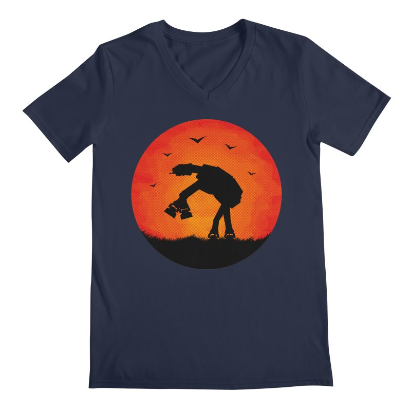 AT-AT sunset Men's V-Neck by Bavo's Artist Shop