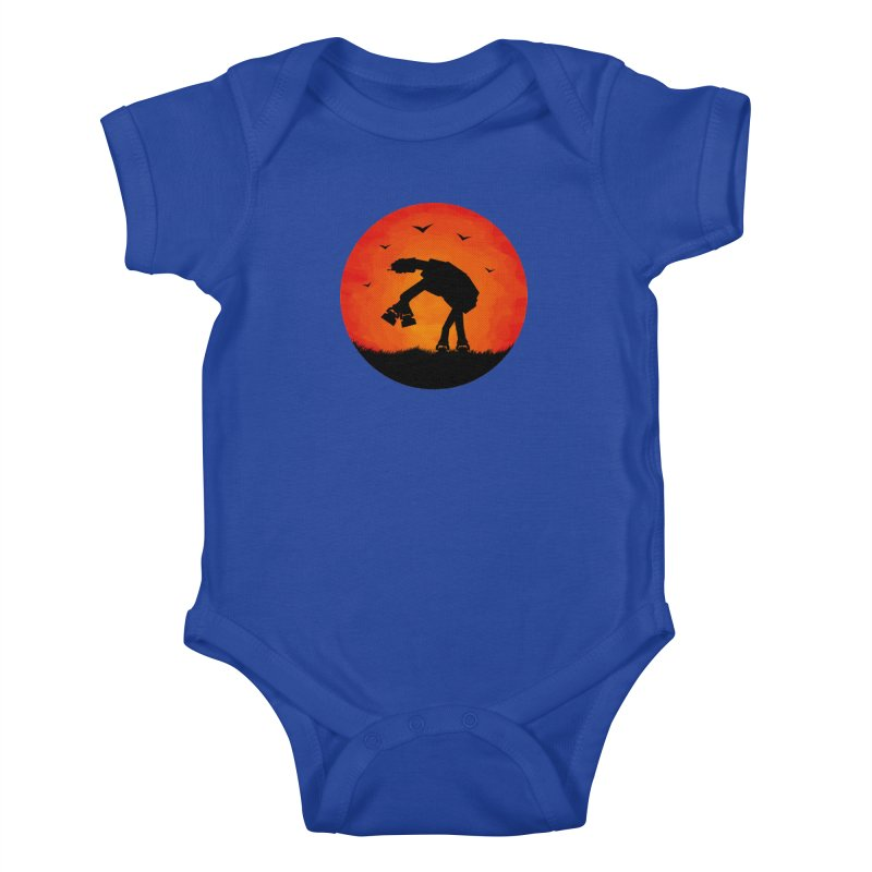AT-AT sunset Kids Baby Bodysuit by Bavo's Artist Shop