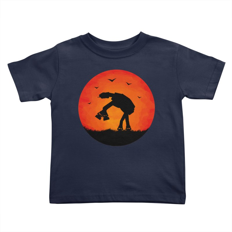 AT-AT sunset Kids Toddler T-Shirt by Bavo's Artist Shop