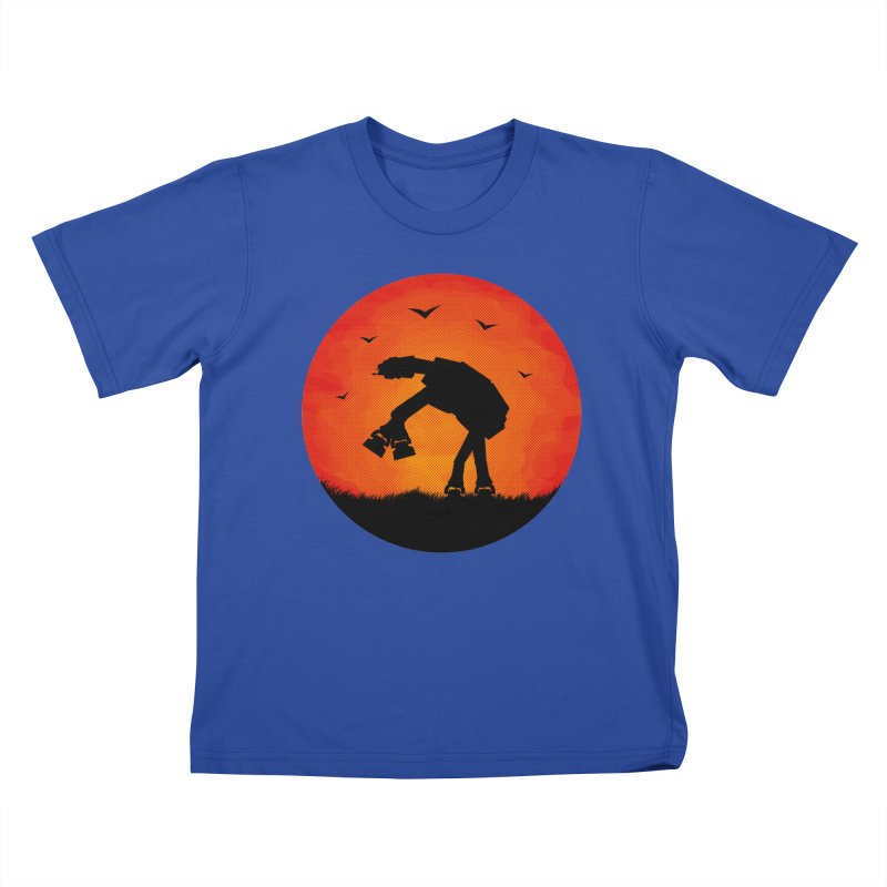 AT-AT sunset Kids T-Shirt by Bavo's Artist Shop