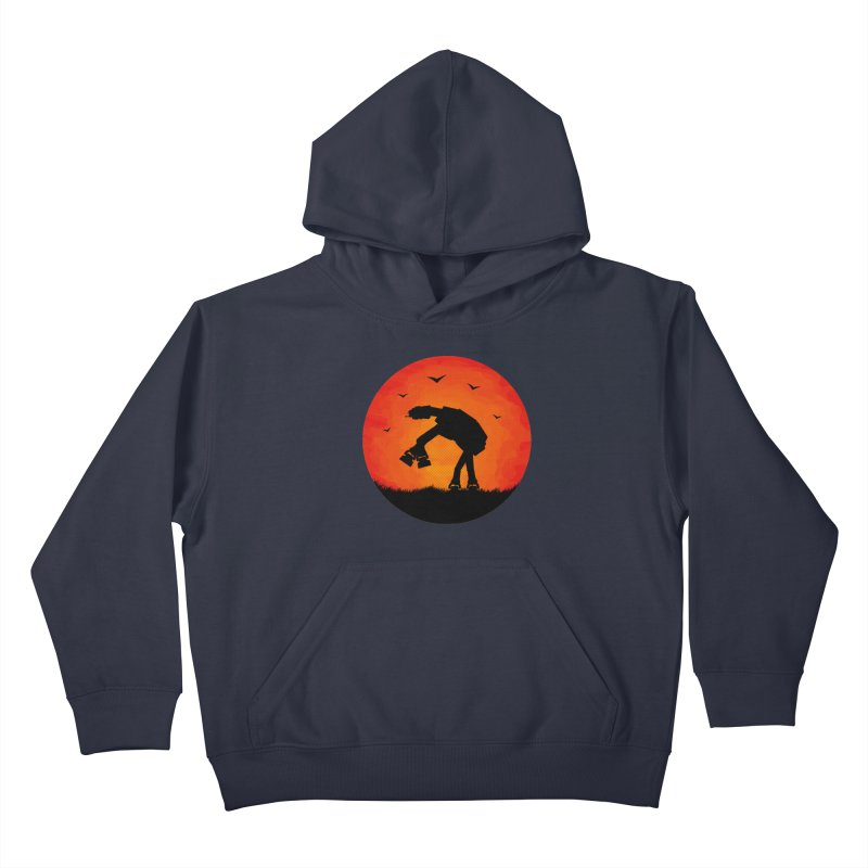 AT-AT sunset Kids Pullover Hoody by Bavo's Artist Shop