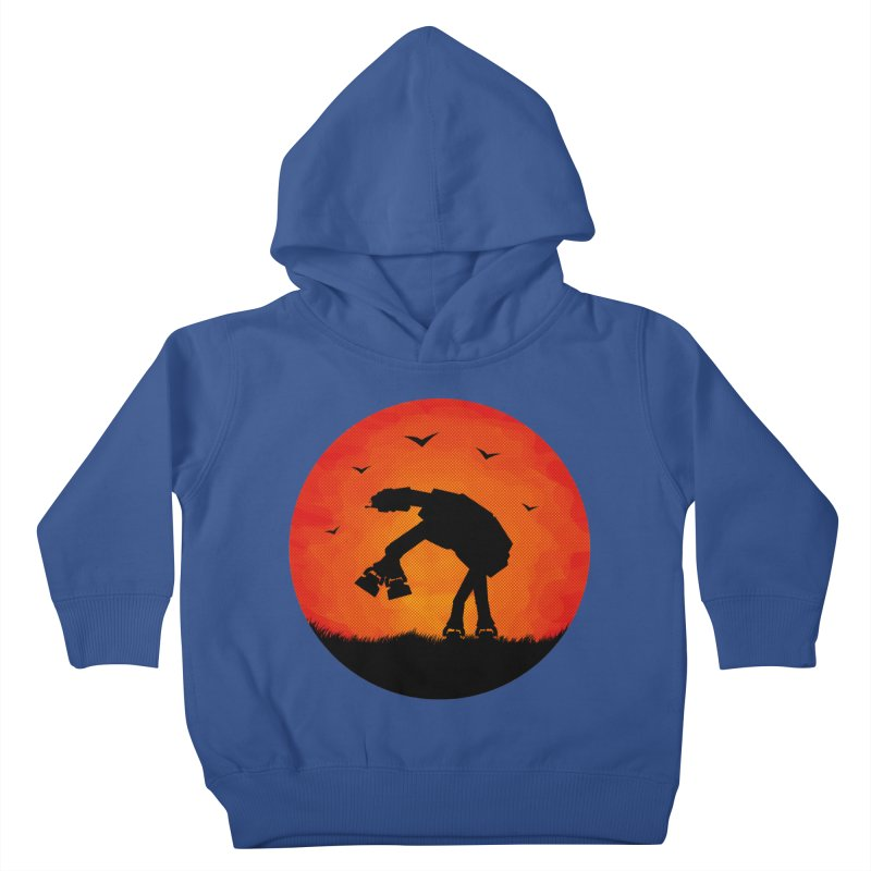 AT-AT sunset Kids Toddler Pullover Hoody by Bavo's Artist Shop