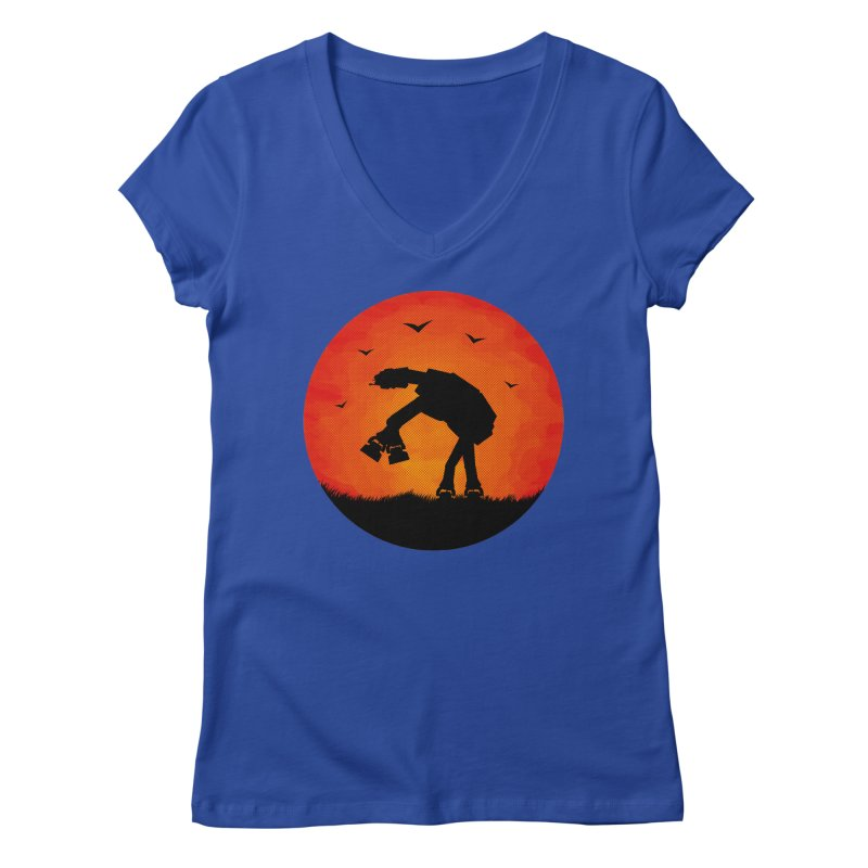 AT-AT sunset Women's V-Neck by Bavo's Artist Shop