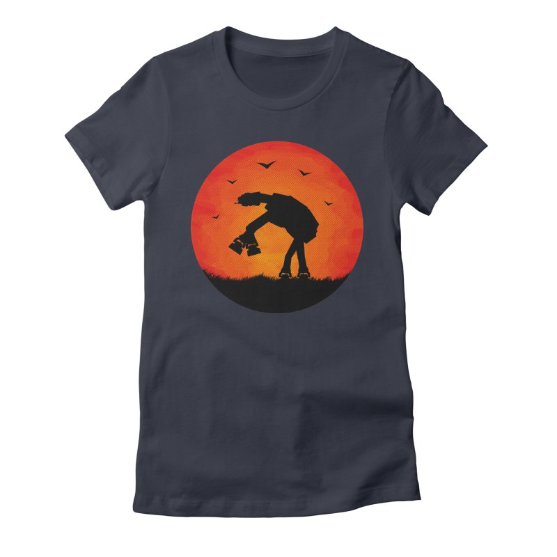 AT-AT sunset Women's Fitted T-Shirt by Bavo's Artist Shop
