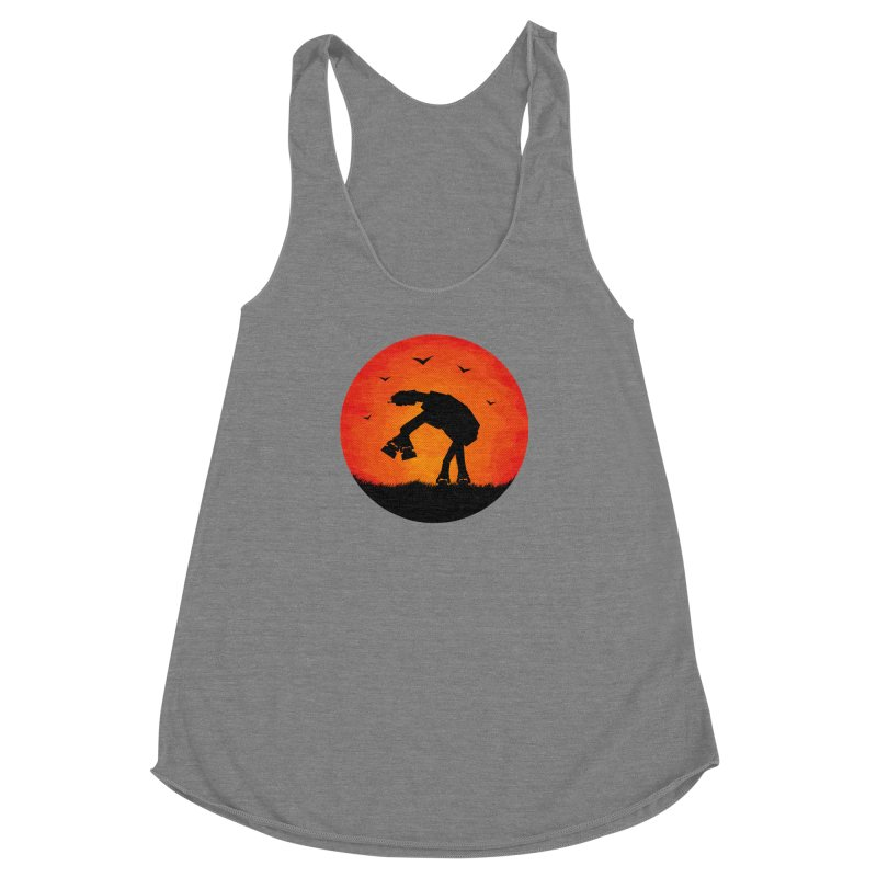 AT-AT sunset Women's Racerback Triblend Tank by Bavo's Artist Shop