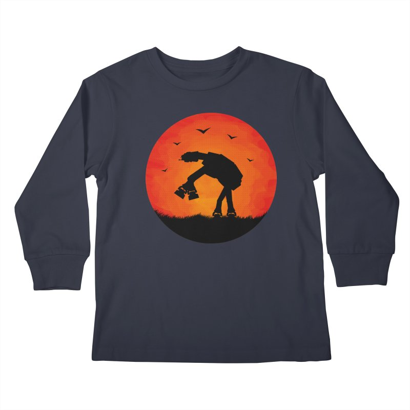 AT-AT sunset Kids Longsleeve T-Shirt by Bavo's Artist Shop